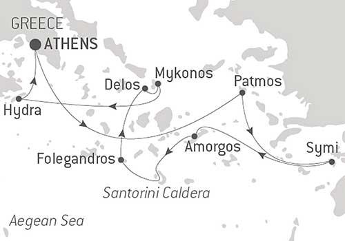Escorted Greek Isles Map